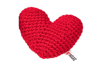 Michi Dog Crochet Squeaker Toy (Red Heart)