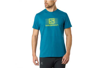 Salomon Blend Logo Short Sleeve Tee Men's (Moroccan Blue)
