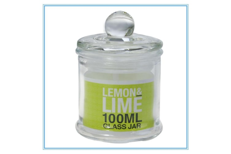 96 x Glass Apothecary Candy Jar with Lid for Candy Candle Waxing Mini 100ml