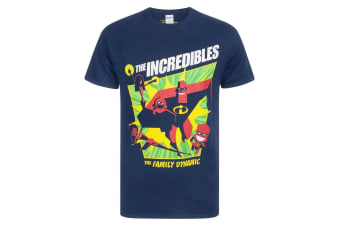 The Incredibles 2 Mens The Family Dynamic T-Shirt (Blue)