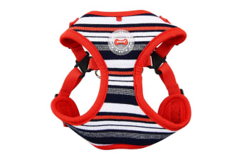 Puppia Oceane Dog Harness C (Red/Navy) (S)