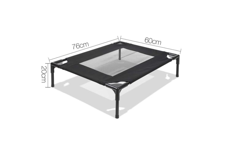 i.Pet Medium Mesh Pet Trampoline - Black