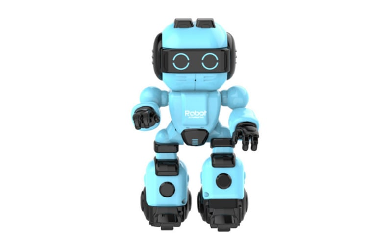 WJS Early Education Learning Machine Intelligent Educational Toy Story Machine Multi-function Robot Suitable for Children-Blue