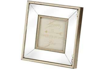Hill Interiors Square Bordered Photo Frame (Gold) (One Size)