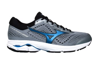 Mizuno Men's Wave Rider 22 (2E) (Monument/Blue/Black, Size 10.5 US)