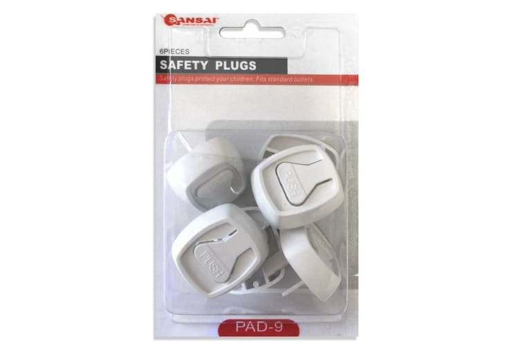 6pc Baby/Child Power Point Cover/Board/Safety Protective Plugs/Outlet/NZ/AU