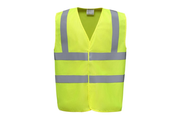 Yoko Mens Hi-vis Flame-retardant Anti-static Waistcoat (Yellow) (S)