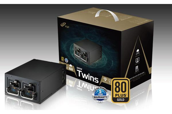 FSP TWINS 500W Mini-Redundant 80+ Gold 20mm FAN ATX PSU 5 Years Warranty