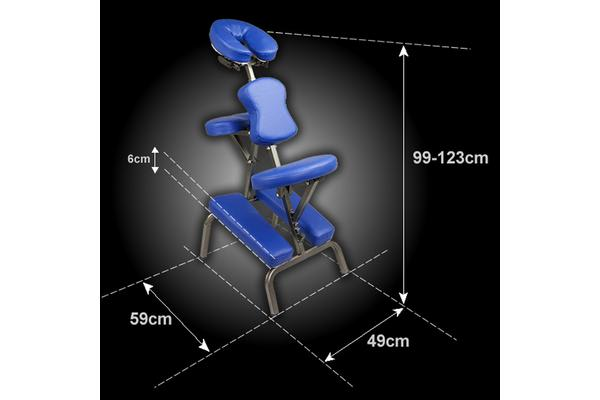 Aluminium Portable Massage Chair - BLUE