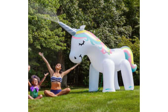 Giant Unicorn Inflatable Backyard Sprinkler | Stands 2m Tall!