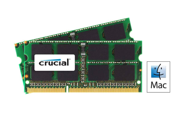 Crucial 16GB Kit (8GBx2) DDR3 1600 MT/s (PC3-12800) CL11 SODIMM 204 Pin 1.35V/1.5V for Mac