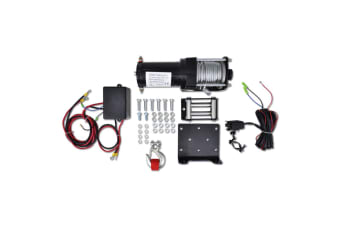 vidaXL Electric Winch 1360 KG with Plate Roller Fairlead