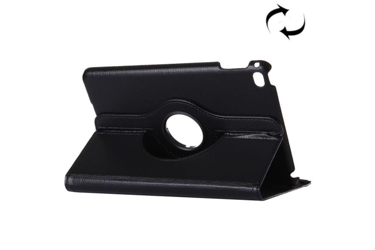 For iPad Pro 12.9 Inch Cover Modern Lychee Leather Smart Shielding Cover Black