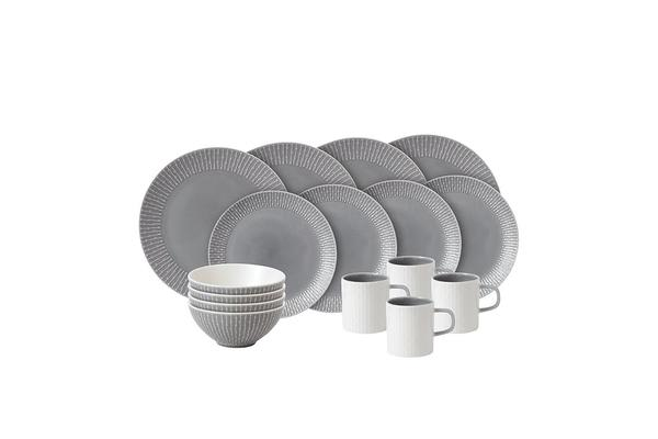 Royal Doulton Hemingway Design Dinner Set 16pc Grey