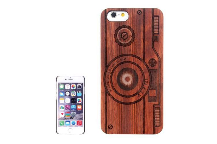 For iPhone 6S 6 Case Rosewood Vintage Retro Camera Pattern Shielding Cover