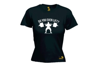 SWPS Gym Bodybuilding Tee - Do You Even Lift - Black Womens T Shirt