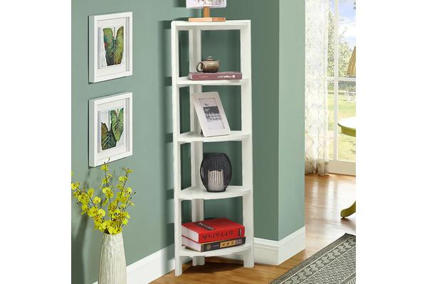 5 Tier Corner Bookshelf Storage Cabinet