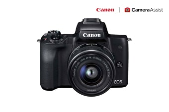 Canon EOS M50 Mirrorless Camera with EF-M 15-45mm f/3.5-6.3 IS STM Lens (M50KISB)