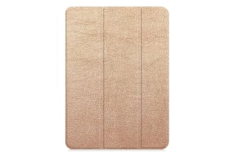 For iPad Pro 11 Inch (2018) Case Rose Gold Karst Texture PU Leather Folio Cover