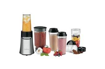 Cuisinart 19pc SmartPower Portable Chopper Grinder Blender Juicer Bottles Jar BK