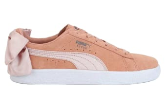 PUMA Women's Suede Bow Shoe (Dusty Coral, Size 7)