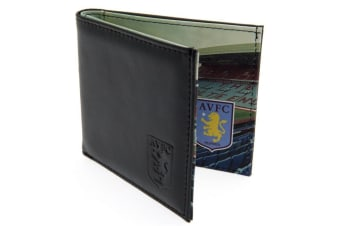 Aston Villa FC Panoramic Stadium Leather Wallet (Brown) (One Size)