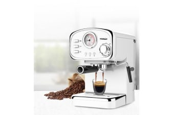 TODO Espresso Coffee Machine Maker Automatic 15 Bar Italian Ode Pump 1.25L - White