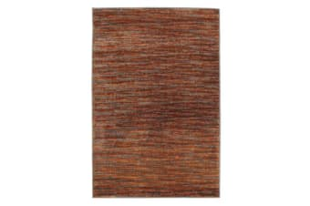 Pandora Contemporary Stripe Rug Rust Grey