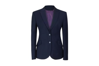 Brook Taverner Ladies/Womens Novara Semi Fitted Suit Jacket (Navy)