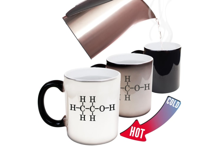 123T Funny Colour Changing Mugs - Alcohol Chemical Cool