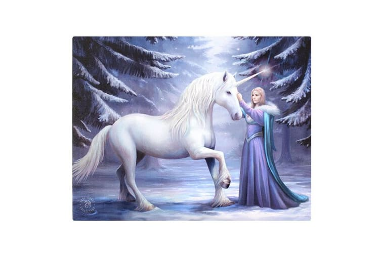 Anne Stokes 19x25cm Pure Magic Canvas (White) (One Size)