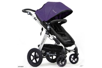 Pouch 2 IN 1 BABY TODDLER PRAM STROLLER JOGGER ALUMINIUM WITH BASSINET purple colour