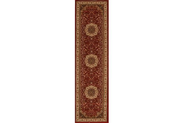 Stunning Formal Medallion Design Rug Red 300x80cm