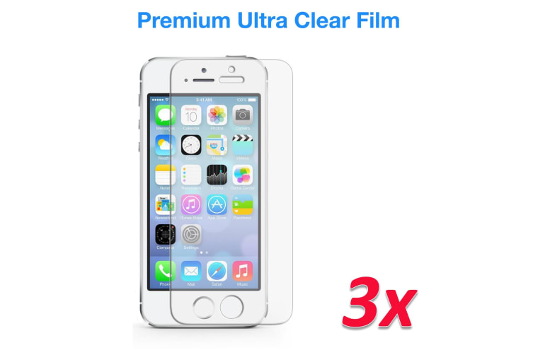 """[3 Pack] Apple iPhone SE / 5s (4.0"""") Ultra Clear Screen Protector Film by MEZON – Case Friendly, Shock Absorption (iPhone SE, Clear) – FREE EXPRESS"""