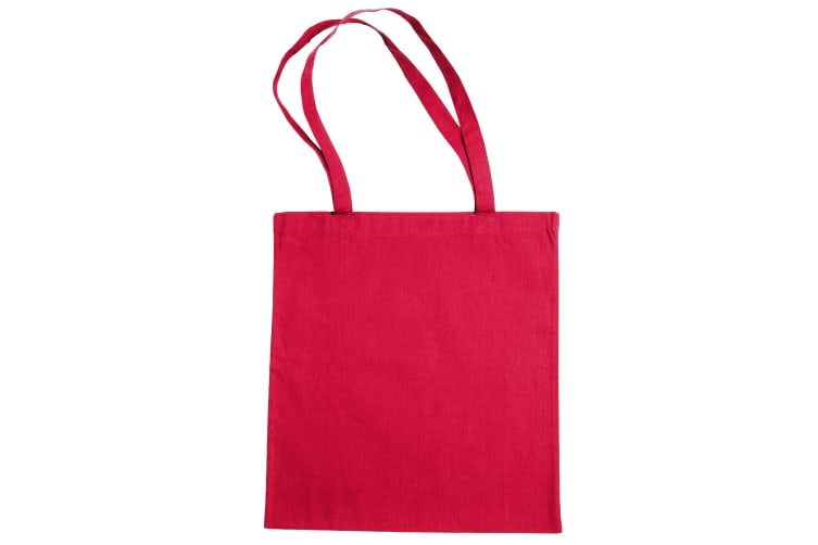 """Jassz Bags """"Beech"""" Cotton Large Handle Shopping Bag / Tote (Pack of 2) (Rouge Red) (One Size)"""