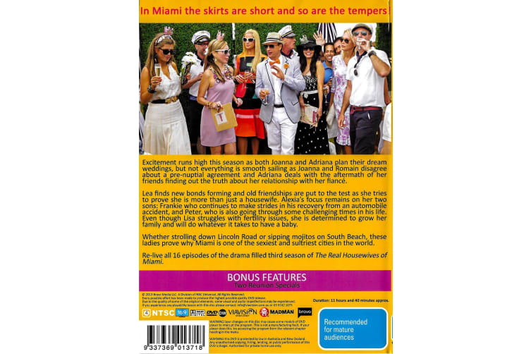 THE REAL HOUSEWIVES OF MIAMI: SEASON 3 SLIP HAS DAMAGE - Series Region 4 Preowned DVD: DISC LIKE NEW