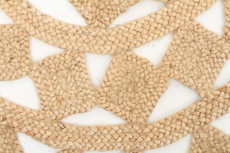 Round Jute Natural Tessellate Rug 120x120cm