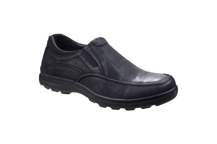 Fleet & Foster Mens Goa Leather Slip-On Shoes (Black) (10 UK)