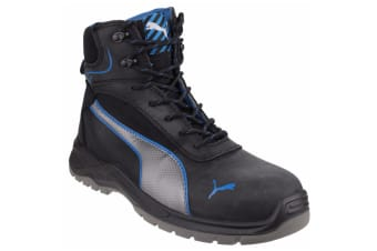 Puma Safety Mens Atomic Mid Water Resistant Lace Up Safety Boot (Black)