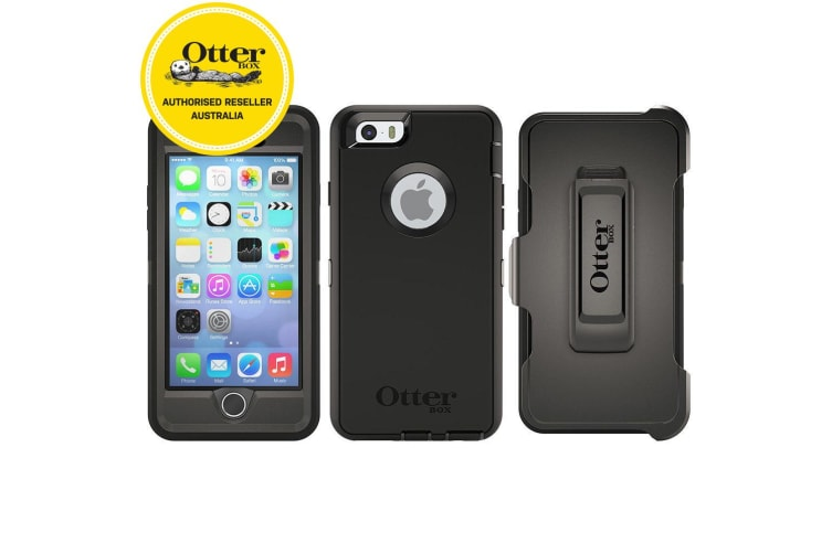 info for ab6cc 3fcc9 Otterbox Black Defender Tough Heavy Duty Drop Case/Cover for iPhone  6/iPhone 6s