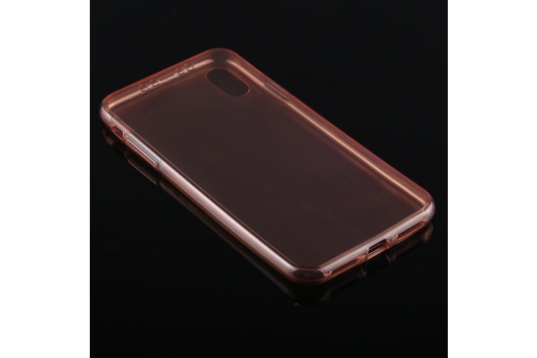 For iPhone XS Max Cover Ultra-thin Double-sided Transparent Thin Case Rose Gold