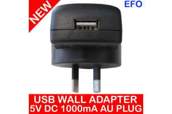Usb Wall Charger Adapter 5V Dc 1000Ma Australian Plug Au Approved Adaptor