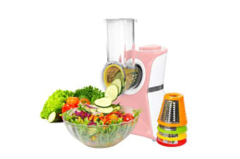 TODO 2 In 1 Frozen Fruit Dessert Maker Electric Salad Maker Food Chopper Shredder - Pink