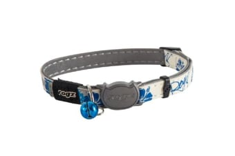 Rogz Glowcat Safeloc Collar Blue Floral - XS
