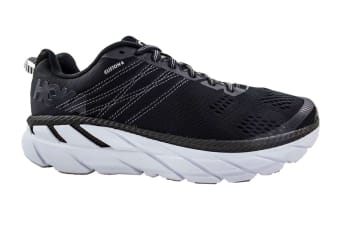 Hoka One One Men's Clifton 6 Running Shoe (Black/White, Size 10.5 US)