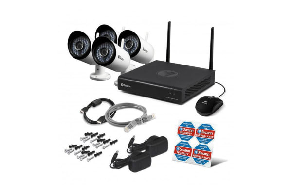 Swann 4 Channel 1080p 1TB Monitoring System with 4 x IP Cameras & Smartphone Connectivity (SONVK-485KH4)