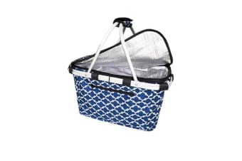 Shop & Go Insulated Carry Basket with Lid Moroccan Navy