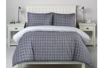 Printed Cotton Sateen Quilt Cover Set Single Bed Williams