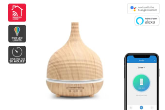 Kogan SmarterHome™ 500mL Smart Aroma Diffuser (Light Wood)