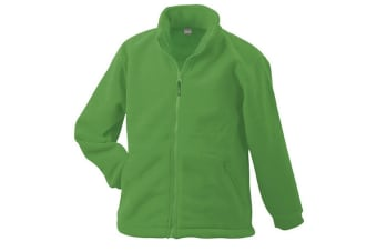 James and Nicholson Childrens/Kids Full-Zip Fleece (Lime Green) (XS)